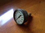 Antique pressure gauge