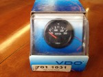 VDO black H20 temp gauge